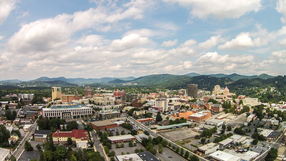 Free Stock Photos of Downtown Asheville by Bitcookie - Skyviews Cityscape